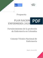 Borrador Plan Nal Enfermeria 25 06 2019