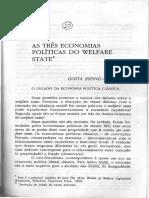 ESPING-ANDERSEN, G.  as três economias políticas do welfarestate