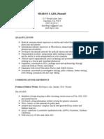 PDF Resume 2010-11-24 Revised
