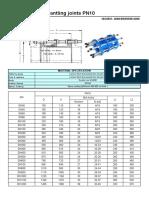 dismantlin g joint PN10,16