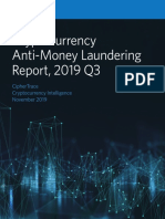 CipherTrace Cryptocurrency Anti Money Laundering Report 2019 Q3