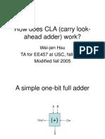 Ee457 How Does CLA Work by Wei-Jen