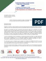 Carta al Consejo de Gobierno-Seccional ANEP-Taxistas