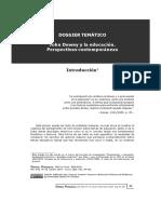Viale. Introducción Al Dossier John Dewey y La Eduación. Revista Diálogos Pedagógicos 2019