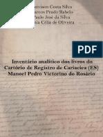Inventário analítico dos livros do Cartório de Registro de Cariacica-ES Manoel Pedro Victorino do Rosário.pdf