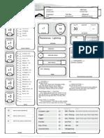 DnD 5e Character Sheet