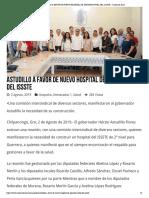 03-08-2019 Astudillo a Favor de Nuevo Hospital de Segundo Nivel Del Issste.