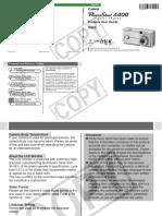 Canon PowerShot A400 - Manual Do Usuário