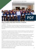 08-08-2019 Héctor Astudillo otorga apoyo financiero a Avispones.