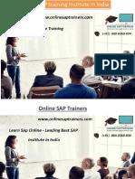 SAP Training Online - Corporate SAP Training Courses