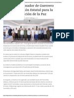 13-08-2019 Preside Gobernador de Guerrero la Coordinación Estatal para la Construcción de la Paz.