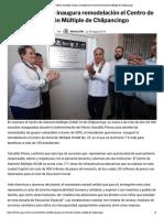 29-08-2019 Héctor Astudillo inaugura remodelación el Centro de Atención Múltiple de Chilpancingo.