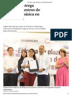 31-08-2019 En Guerrero, entregan 500 plazas a maestros de educación básica.