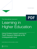Using Problem Based Learning
