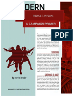Project Javelin - Campaign Primer