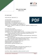 Fin de Siglo - revista índice.