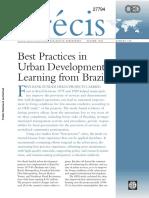 Desarrollo Urbano, Learning From Brazil