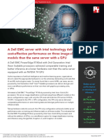 A Dell EMC server with Intel technology delivered more cost-effective performance on three image-classification models than the same server with a GPU