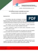 Declaración Final XVII Congreso de Fenapes