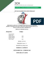 Informe Implementación de Un Interruptor Inteligente Accionado Mediante Wifi en Una Instalación Eléctrica Residencial