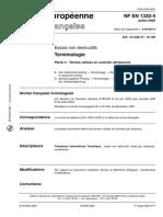 NF EN 1330-4 de Juillet 2000 - Termes utilisés en contrôle ultrasonore