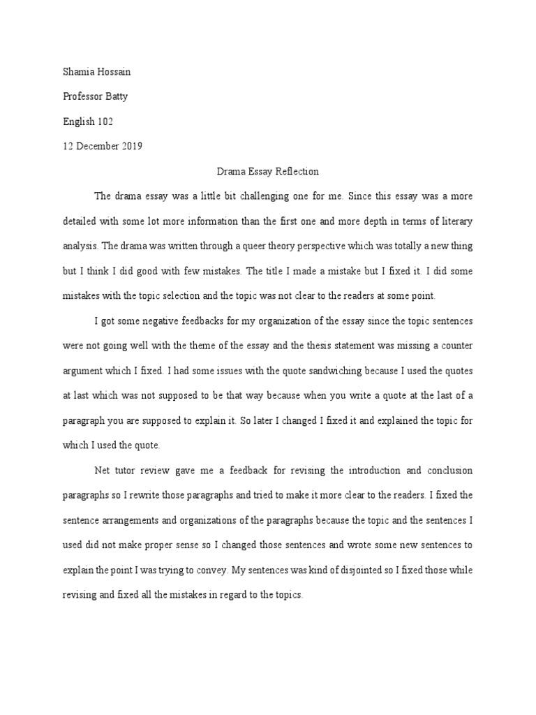 Help with my drama essay radiology residency essay