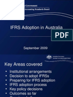 IFRS Adoption in Australia Sept 2009