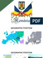 ROMANIA PRESENTATION GEOGRAPHY
