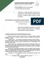 Jorge Vianna pede aprovação de substitutivo a PL do Executivo, para garantir preceptoria na ESCS em 2020
