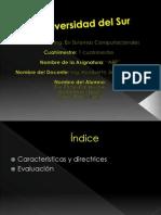 caracteristicas y directrices de la evaluacion