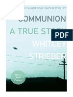 [2008] Communion by Whitley Strieber | A True Story | William Morrow Paperbacks