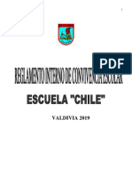 Reglamento Interno de Convivencia Escolar 2019  escuela Chile