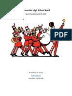 greendale high school band handbook
