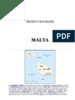 Proiect Geografie Malta