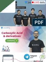 L5 - Carboxylic acids