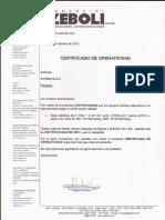modelo de certificado