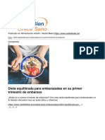 Alimentacion Infantil - Nestle Bebe - Dieta Equilibrada Para Embarazadas en Su Primer Trimestre de Embarazo - 2018-03-21