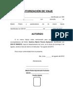 Autorización de Viaje Martín Pereira