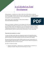 Effects of Alcohol on Fetal Development