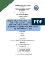 Informe Final de Formulación