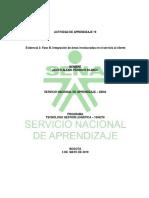 Evidencia 3 Fase III, Integración de Áreas Involucradas en El Servicio Al Cliente