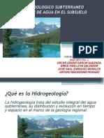 Balance Hidrologico Subterraneo y Distribucion de Agua en Subsuelo Equipo 1