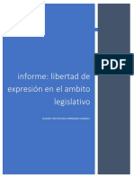 Libertad de Expresion en El Ambito Legislativo