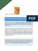 Sinopse Cronológica Da Obra Psicológica de Jean Piaget