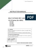 EBARA EV S Instruction Manual 380 440VAC 7331 A95272 Rev 1B