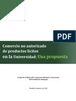Comercio no autorizado  de productos lícitos  en la Universidad