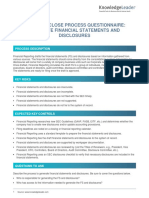 Financial Close Process Questionnaire - Generate Financial Statements and Disclosures.docx