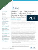 IDC ExaCC Customer Interviews--Executive Summary