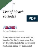 List of Bleach episodes - Wikipedia.pdf