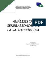 Generalidades de La Salud Publica. Unidad Vi. s.s